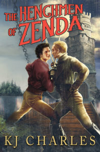 The Henchmen of Zenda cover. Two men in a swordfight in front of a castle